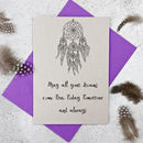 Good Luck Dream Catcher Card