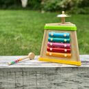 Wooden Toddlers Triangle Music Box