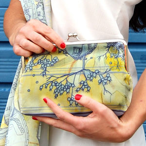 Lemon Skies Silk Clutch Bag - clutch bags
