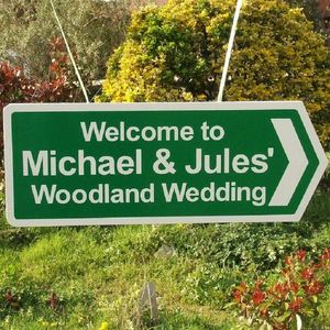 Personalised Double Sided Wedding Sign - outdoor decorations