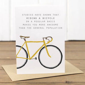 Cycling Quote Bike Card - birthday cards