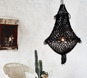 Jute Chandelier - dining room