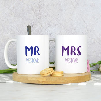 Pair Of Mr And Mrs Mugs