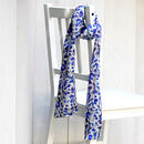 Honesty Print Long Double Sided Silk Scarf
