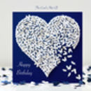Butterfly Anniversary Card, Anniversary Two Hearts Card