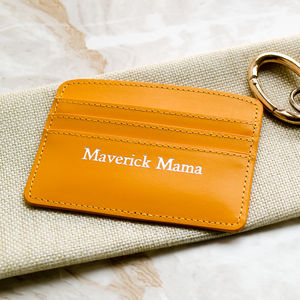'Maverick Mama' Leather Card Holder