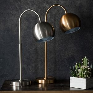 The Arched Bronze Or Nickel Table Lamp - bedside lamps