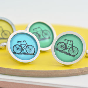 My Best Bicycle Cufflinks - mens