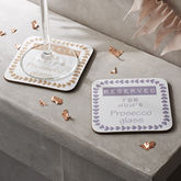 Personalised Prosecco Coaster - shop by interest