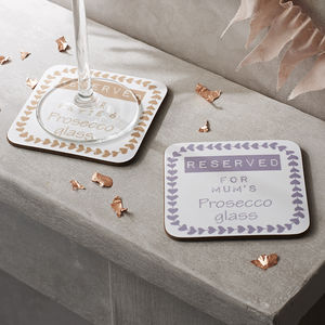 Personalised Prosecco Coaster - birthday gifts