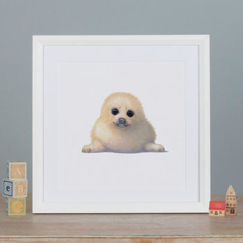 Illustrated Seal Print