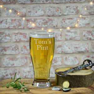Personalised Pint Glass - drink & barware