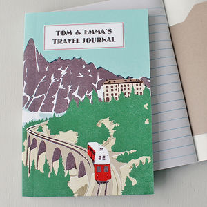 Travel Journal Mountain Rail Personalised