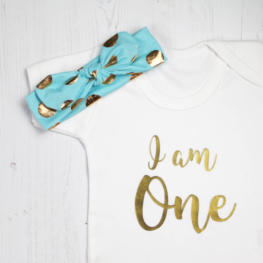 I Am One First Birthday Baby Girl Outfit