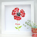 Personalised Poppy Button Framed Art