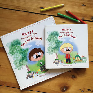 Personalised 'Super Duper First Day Of School' Book - back to school essentials