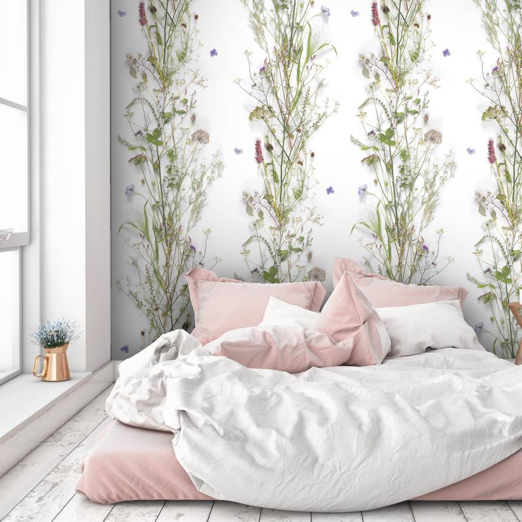 botanical wallpaper by woodchip and magnolia furnishings amp fittings: zones bedroom wallpaper