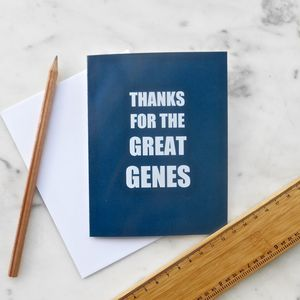 Great Genes Greetings Card - father's day cards