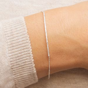Personalised Skinny Crystal Bar Bracelet - wedding fashion