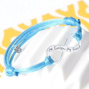 Friendship Personalised Infinity Bracelet - for friends