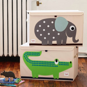 Applique Animal Storage Toy Chest - laundry bags & baskets