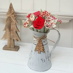 Christmas Flowers With Oak Tag And Zinc Jug