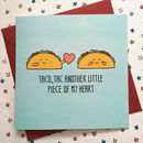 Funny Wedding Anniversary Card Taco Lover