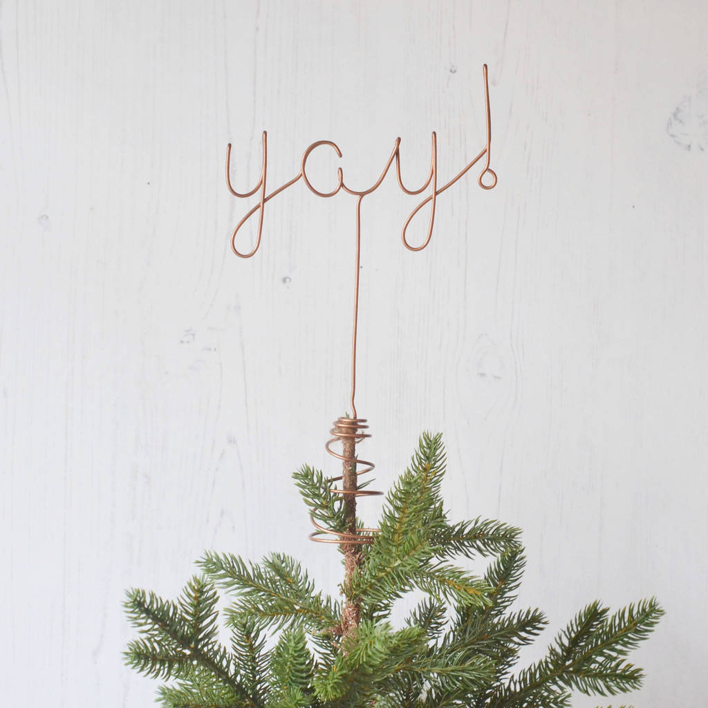 yay christmas tree topper by the letter loft | notonthehighstreet.com