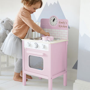 Personalised Pink Retro Play Kitchen