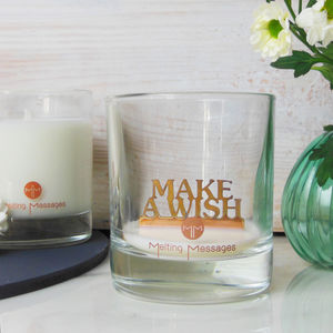 'Make A Wish' Hidden Message Scented Candle