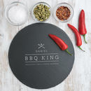 Personalised Dad The 'Bbq King' Slate Serving Board