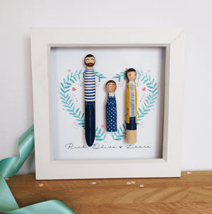 Family Peg Portrait