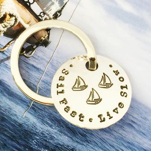 Personalised Family Name Sailing Key Ring - frequent travellers
