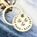 Personalised Family Name Sailing Key Ring