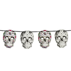 Halloween Day Of The Dead Skull Garland - party decorations