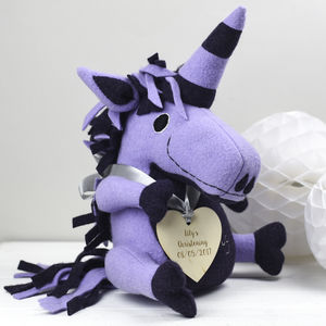 Christening Soft Toy Unicorn, Personalised - unicorns