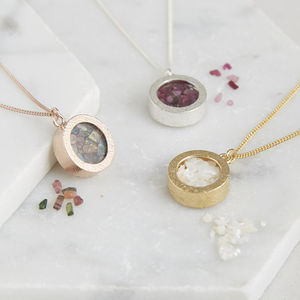 Birthstone Locket Necklace - personalised jewellery