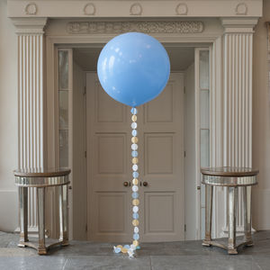 Baby Blue Giant Circle Tail Balloon - decoration