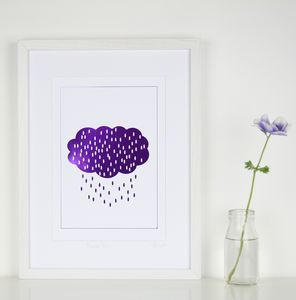 Purple Rain Foil Print - posters & prints