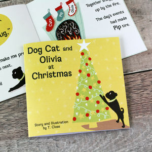Dog Cat Personalised Christmas Story Book