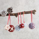 Christmas Baubles Needle Felting Kit Berry And Blue