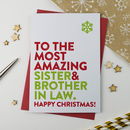 Most Amazing Sister And Brother In Law Christmas Card