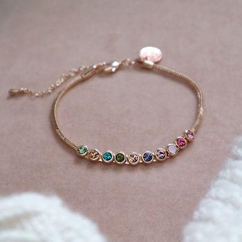 Personalised Rainbow Crystal Initial Bracelet