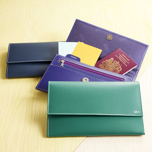 Recycled Leather Travel Wallet - travel wallets