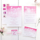 Ombre Watercolour Wedding Invitation Set
