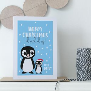 Personalised Mummy Or Daddy / Family Christmas Card - new in christmas