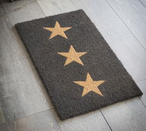 Three Star Door Mat - living room