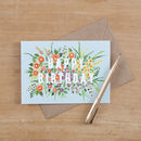 Floral Happy Birthday Greeting Card