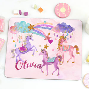 Girl's Unicorn Placemat 'Magic unicorn' - tableware