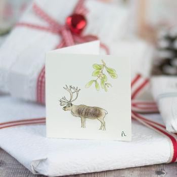 Christmas Reindeer Gift Tags, Pack Of Four